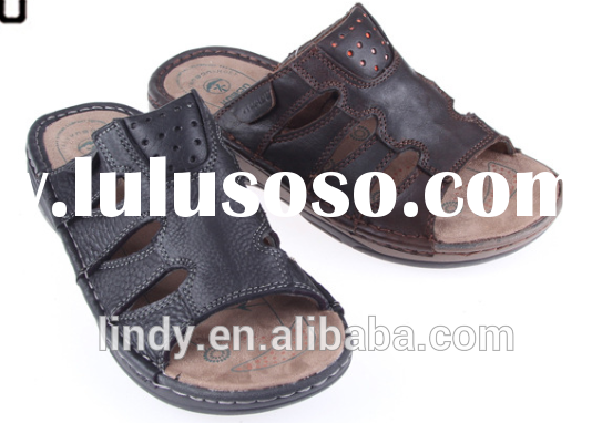 LD-SL8033 2015 Fashion Beach Genuine Leather Sandals New Style Slippers Vietnam Sandals High Quality