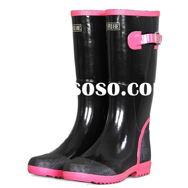 Ladies Rubber Boots Cheap Women Rubber Rain Boots FH/RF2-010