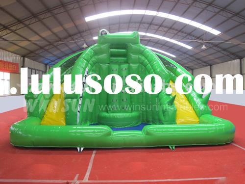 Large kids toys children inflatable pool with slide with CE approved for outdoor use