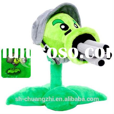 Plants vs Zombies Plush Toys,Gatling Pea PlushToys -12In green toys