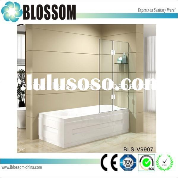Simple design bathroom portable glass bath shower screen