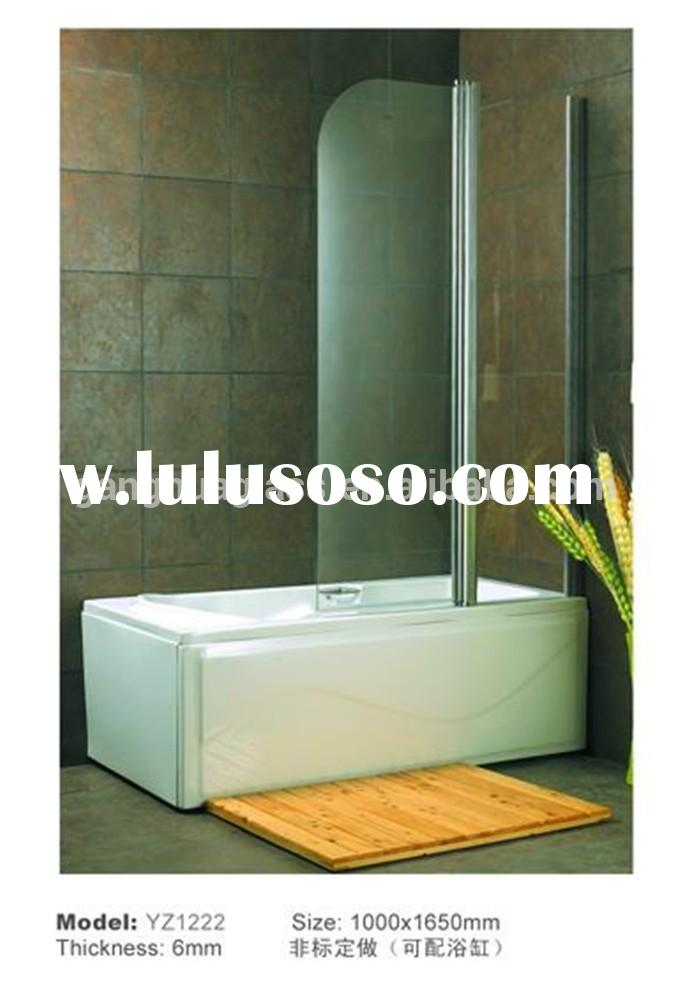 Super Popular Folding Bathtub Frameless Tempered Glass Shower Bath Screen