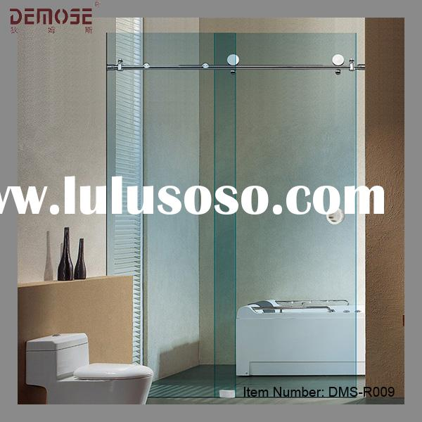 bathtub frameless glass shower screen