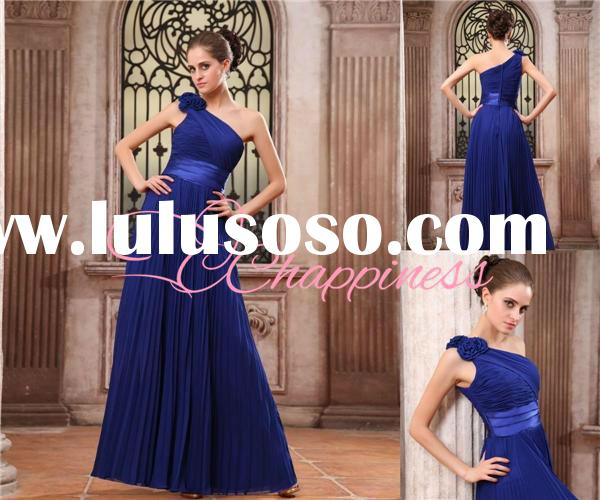 bridesmaid dress one shoulder royal blue evening dress cheap bridesmaid dress under 100