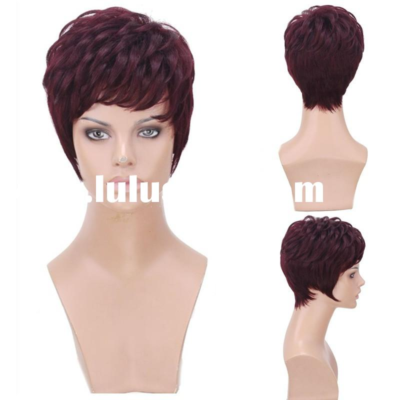 cheap wholesale china short lace front full lace wig brazilian human hair wig for black women