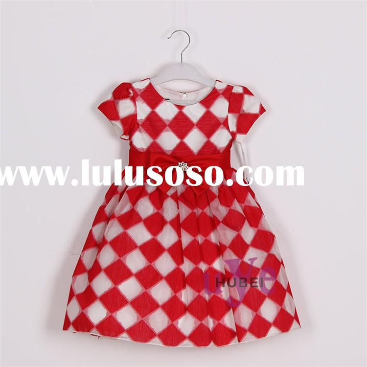 children print cotton frocks red kids party dresses fancy frocks for baby girls