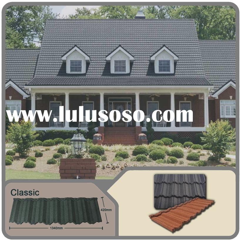 corrugated tin roofing sheets/Classic stone coated metal roof suppliers/diy metal roofing with stone