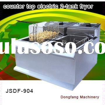 donut fryer New style counter top electric 2 tank fryer(2 basket)