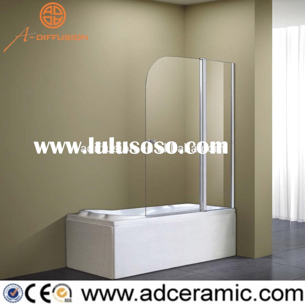 double door pivot folding bathtub shower screen