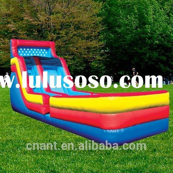 giant inflatable kid water slide with pool
