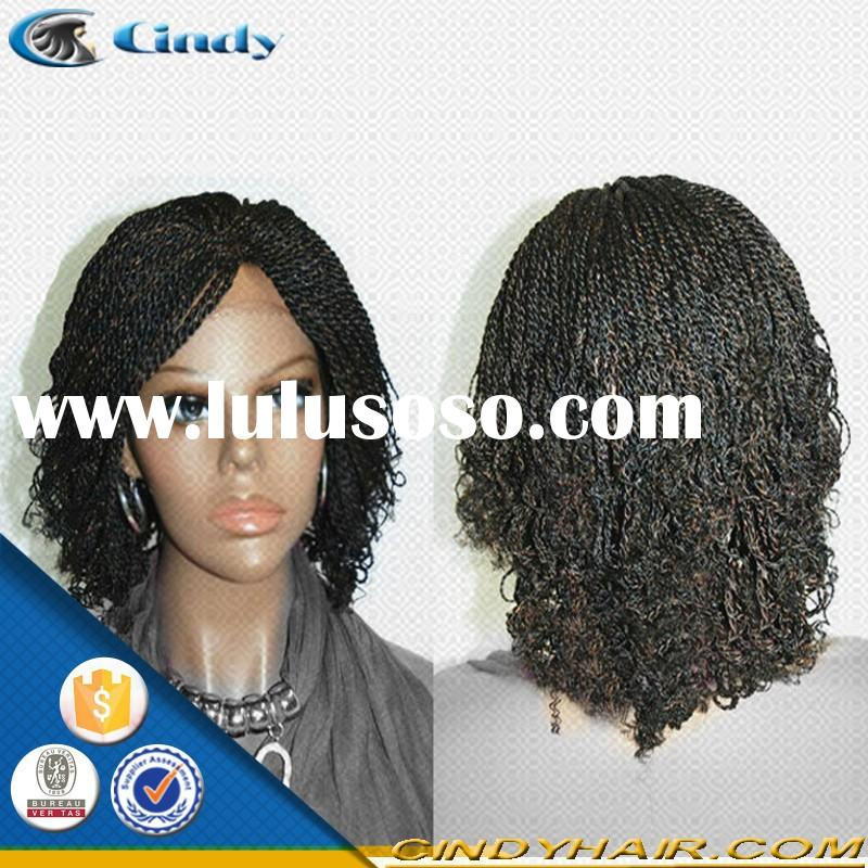 high quality new style cheap short lace front box braided wigs for black women