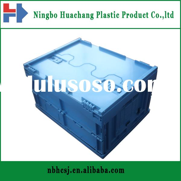 industrial plastic foldable containers/plastic turnover box with lid