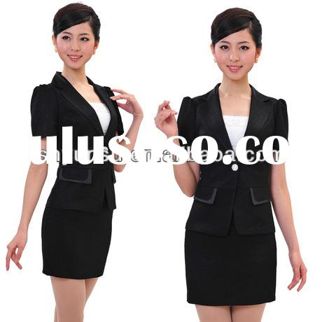 ladies business formal work office suit women skirt suit dropshipping frock suits for women
