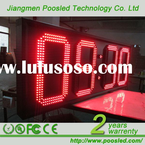 led time zone clock  led time controller  led large digital wall clock time display