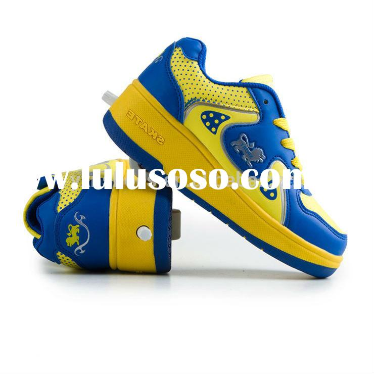 made in china factory children roller skate shoes with retractable wheels, kids sport roller shoes s