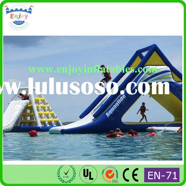 outdoor pool sea inflatable kids water game/ inflatable aqua water with slide/ water sport inflatabl