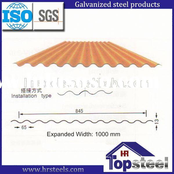 tin roofing sheets for wall roof fence from HengRi factory Model No. HV-845 roofing sheets