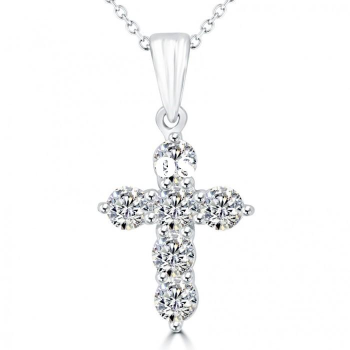 2015 Hot wholesale cross fashion silver rosary necklace for men
