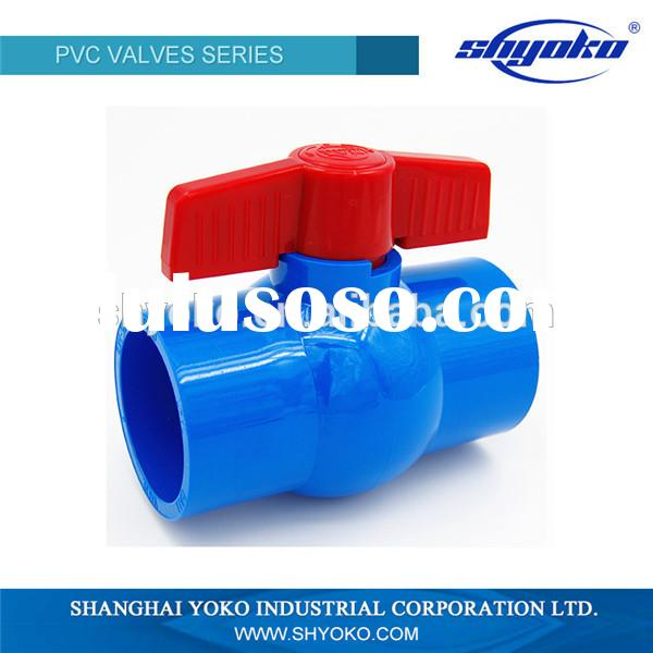2015 factory price high quality PVC pipe fitting Plastic Tubes ball valve