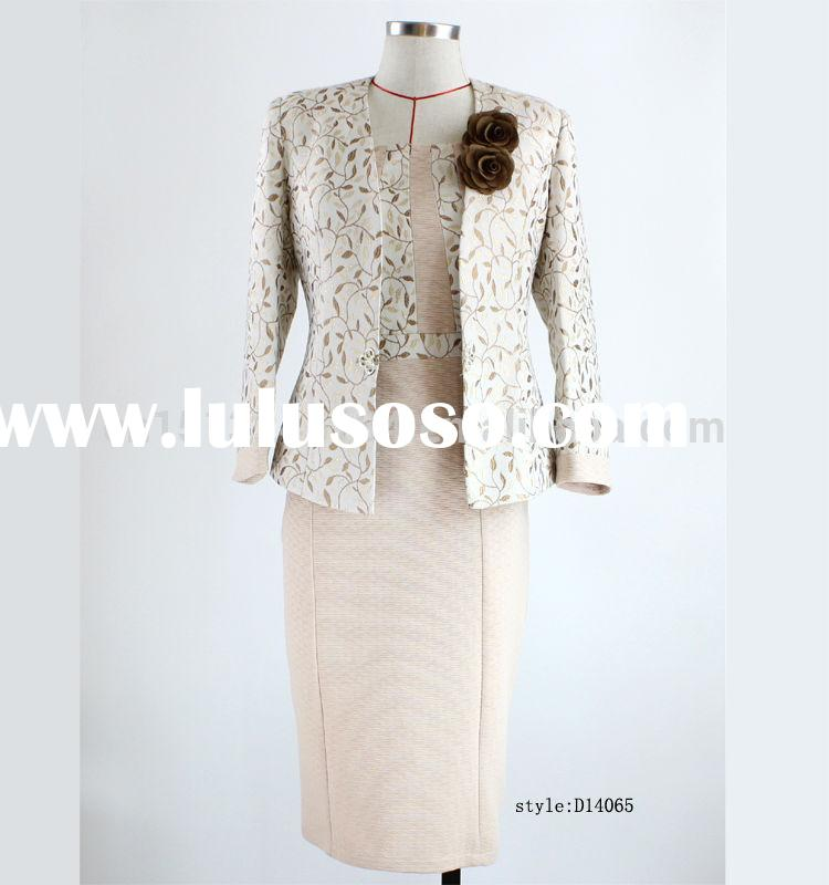 2015 female church dress suits in Africa style,elegant three Quarter Sleeve women suits