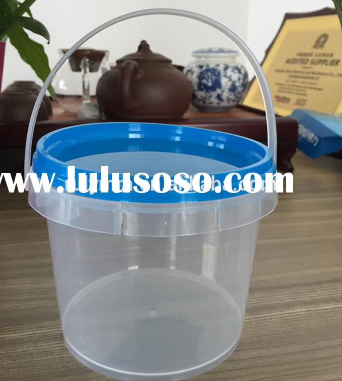 2L clear paint plastic bucket