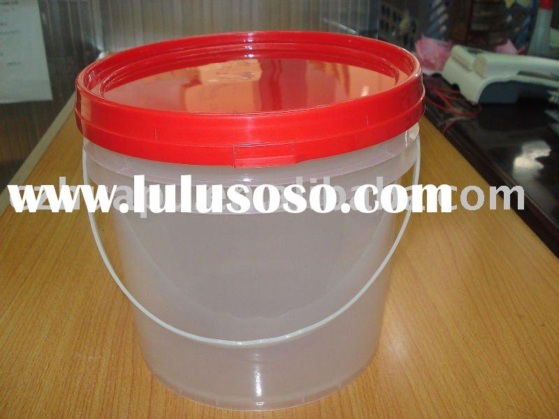 5L plastic clear paint bucket