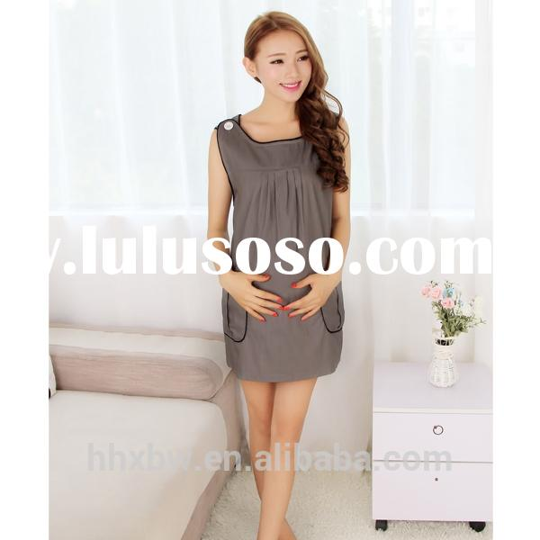 Anti-radiation cotton long frocks for maternity women