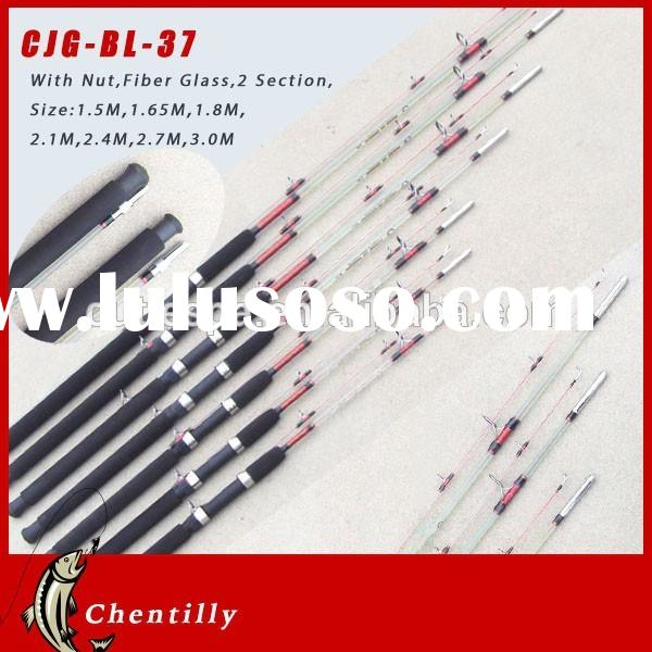 Chentilly02 CJG-BL-37 2015 Hot Spinning glass fiber 2 sections Fishing Rod for Sale wholesale