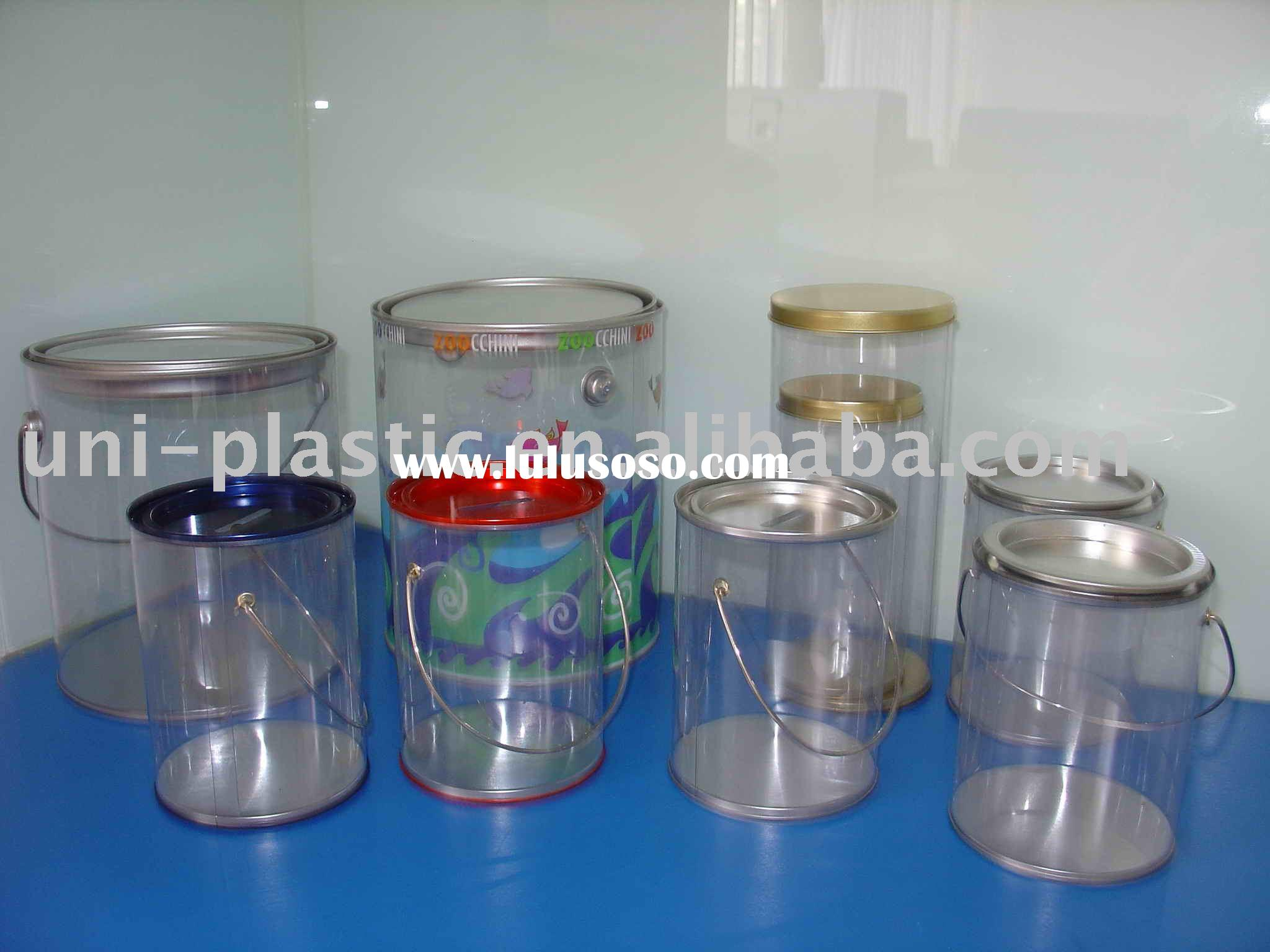 Clear Pail,Plastic Pail,PVC Pail,Clear Paint Can,PVC Bucket
