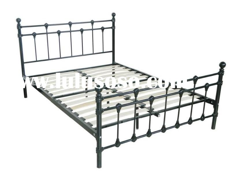 European style queen size metal double bed frame