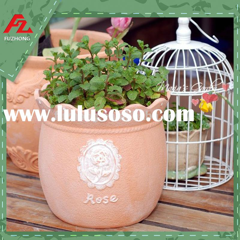 Garden terracotta plant pot/clay flower pots/ceramic pot