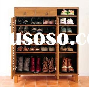 Home Furniture General Use and Wood Material wooden furniture shoe cabinet
