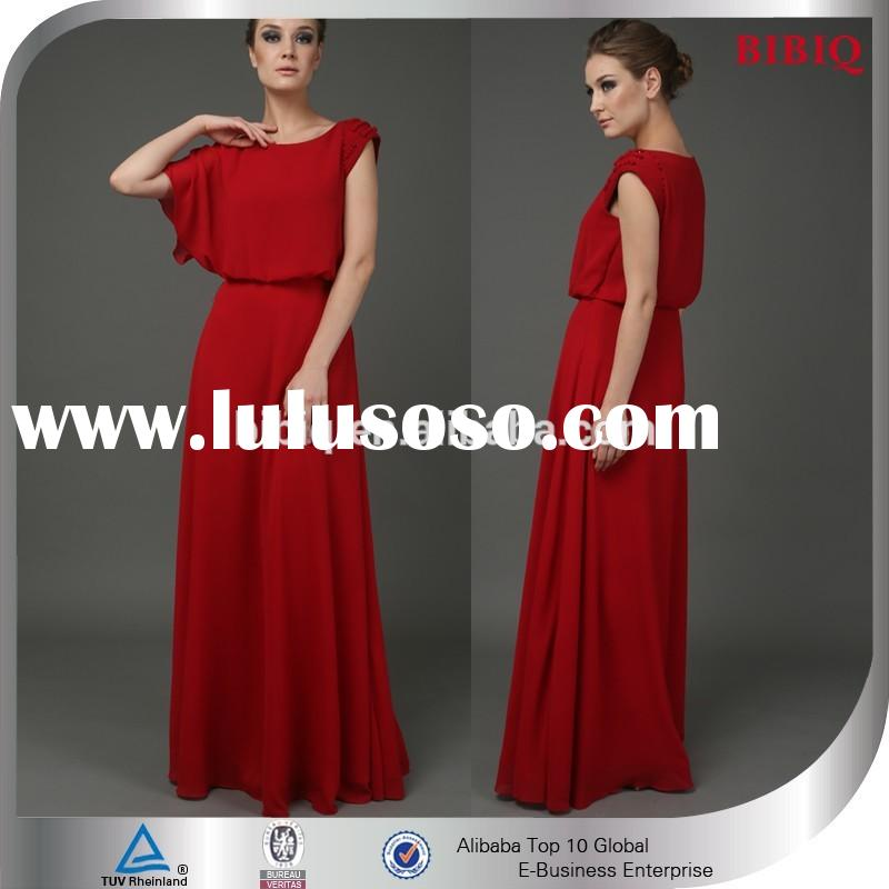 Latest Design Red Ladies Long Formal Evening Gown