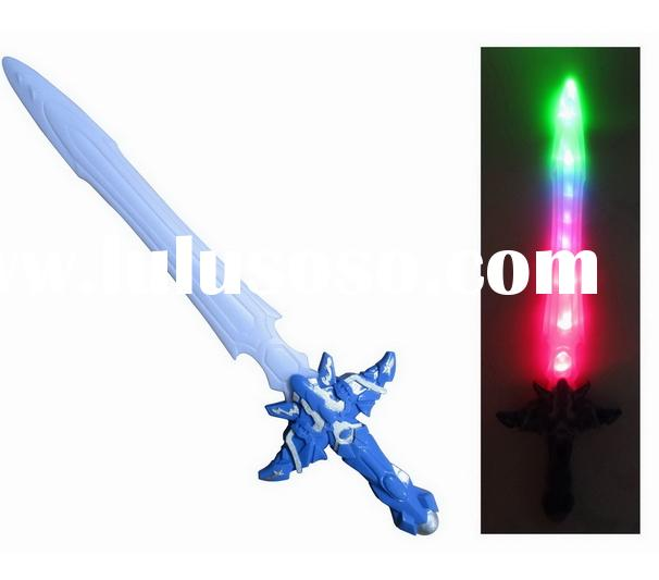 New invention!!ABS flash plastic cheap toy swords for kids with 7P