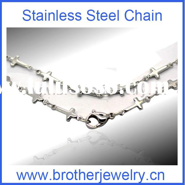 Style Stainless steel silver cross necklace for men