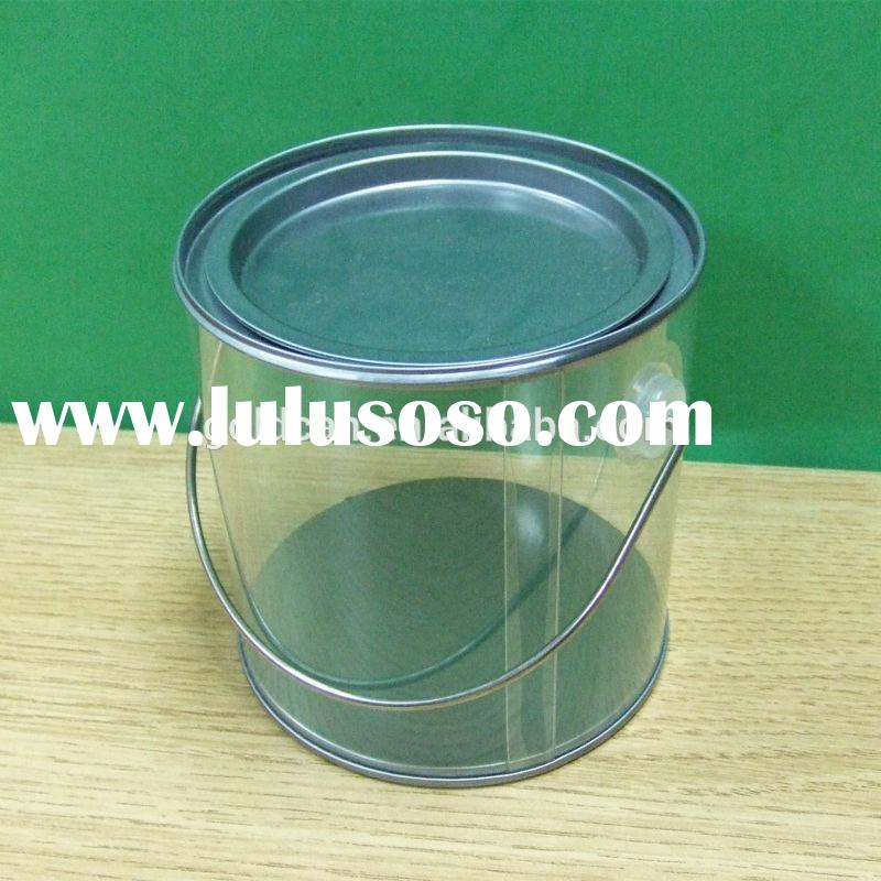 Wholesale fashion clear PVC plastic paint bucket