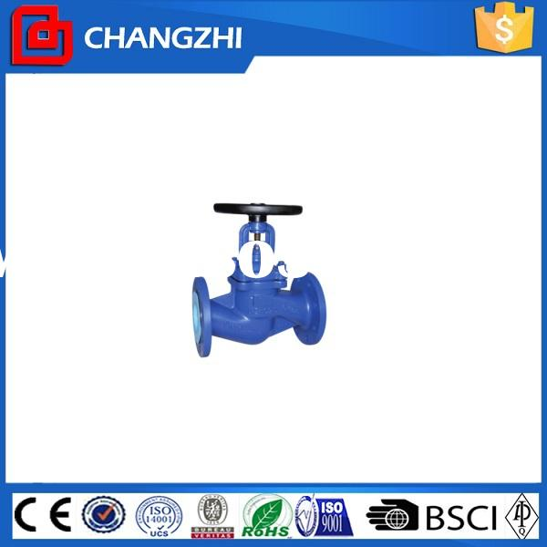 bellows type high pressure water supply shut off globe valve