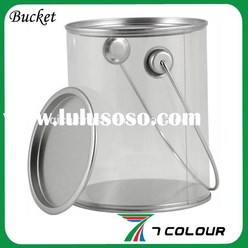 clear paint bucket,plastic drum 200 liters