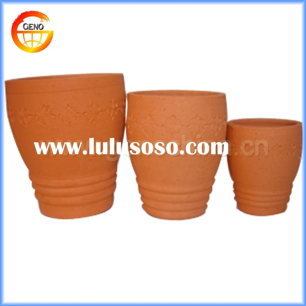 manufactory direct hot sale terracotta flower pots for garden decor wholesale
