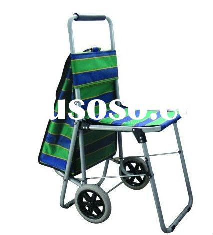plastic grocery personal shopping carts with chair for seniors