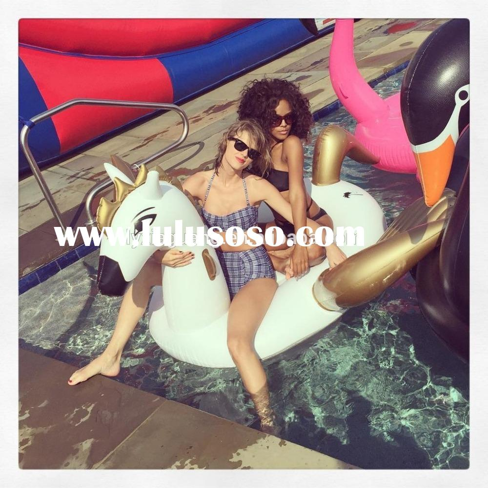 pool toys for adults pvc Customized water float inflatable pool pegasus