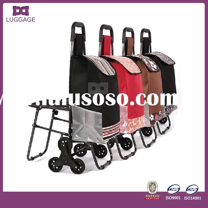 wholesale customized new design portable folding shopping carts for seniors with chair