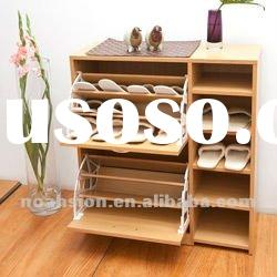 wooden modern shoe cabinet shoe rack home furniture