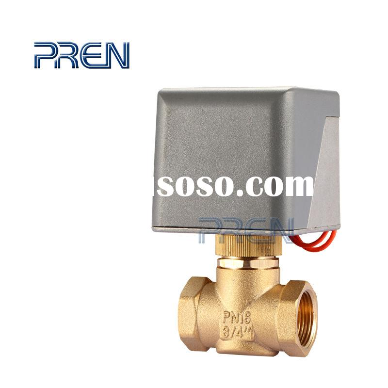 "1/2"" DN15 AC24V 3 Way T Port Brass Motorized Ball Valve, Wire Control"