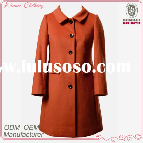 2015 Hot sale high quality simple design winter coats for women