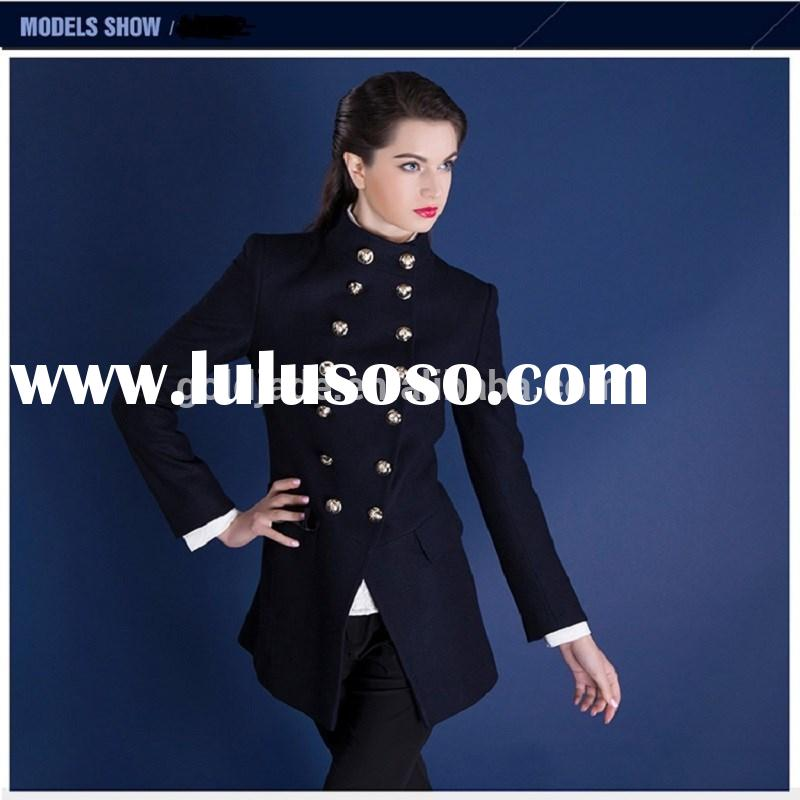 2015 fall and winter worsted coat women ,latest wool blend coat designs for women,mid-long worsted c