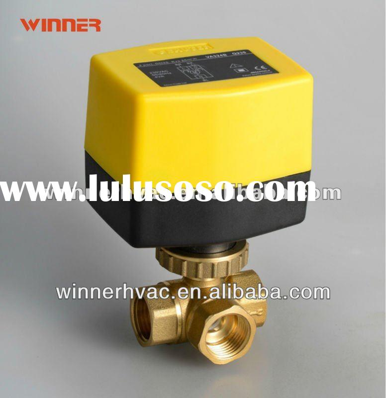 3 way motor operated ball valve dn40 for HVAC