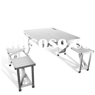 Aluminum Folding Portable Picnic Camping Set Table & Chairs 4 Person