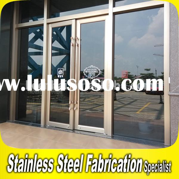 Custom Made Commercial Stainless Steel Door Frame For Building Entrance Door
