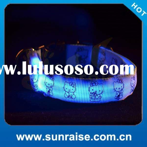Factory Supply led flashing light dog collar Waterproof, bright light